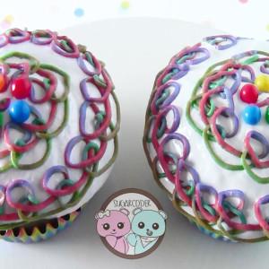 Rainbow Loom Cupcakes
