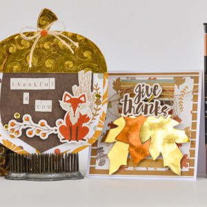 Foiled Fall Cards