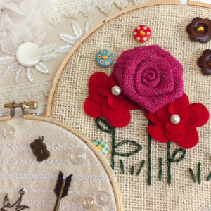 Embellished Embroidery Hoops