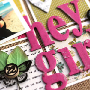Hey Girl Scrapbook Page