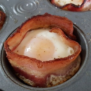 Brunch Egg And Bacon Cups