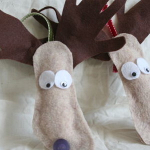 Kid's Moose Ornament Project