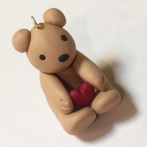 Teddy Bear Polymer Clay Charm