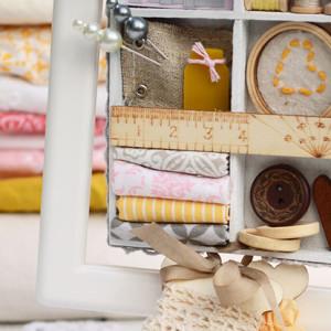 Hanging Sewing Box Decor