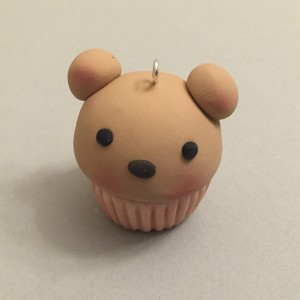 Cubby The Polymer Clay Cupcake Bear