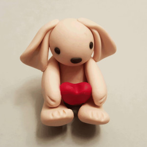 Kiki The Polymer Clay Valentine Bunny