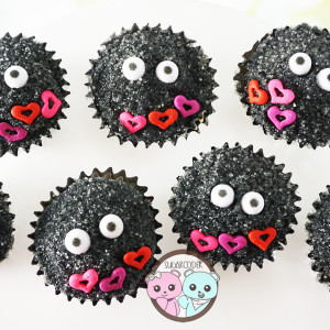 Spirited Away Cupcakes: Soot Balls