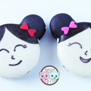 Asian Girl Macarons