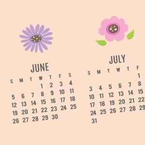 2016 Vintage Chic Flower Calendar Download - Pink
