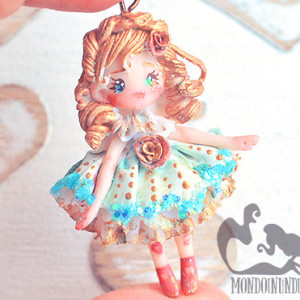Acrylic Painted Clay Doll