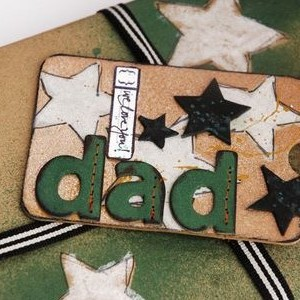 A Fun, Grungy Father's Day Tag