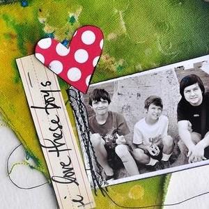 """My Boys"" Inky & Grungy Banner Album"